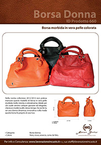 Borsa morbida in pelle colorata