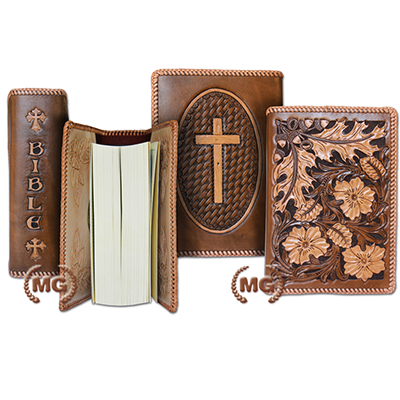 Bible Cover in Hide