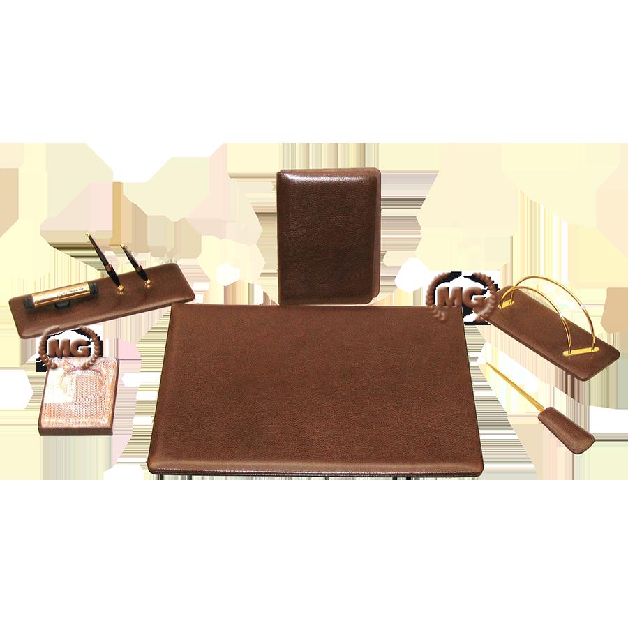 Kit Scrivania in pelle Gold TM