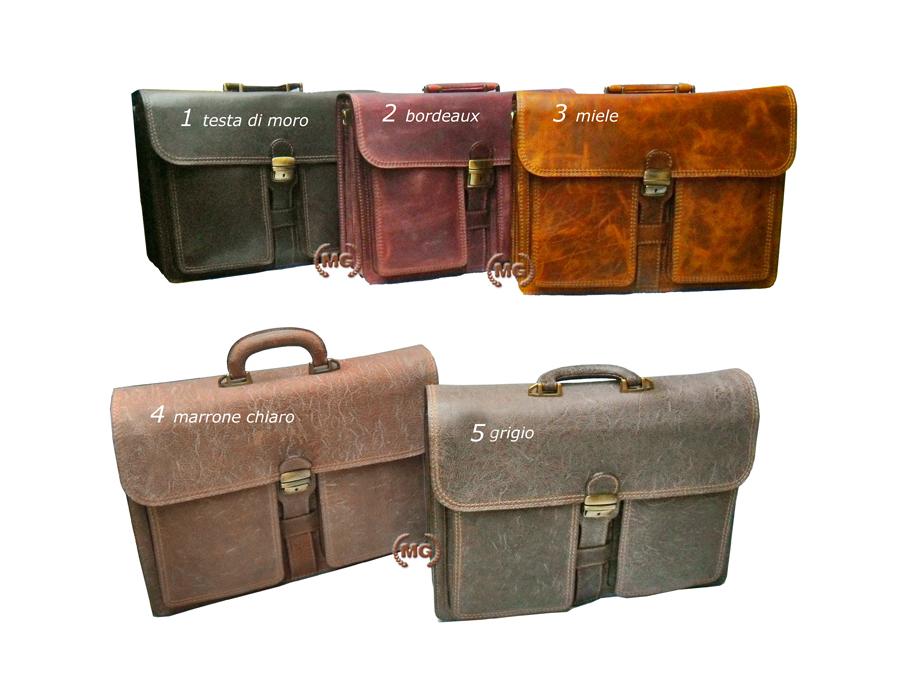 Cartella colori disponibili borse con tasconi frontali