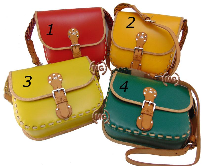 borsa donna in cuoio colori disponibili