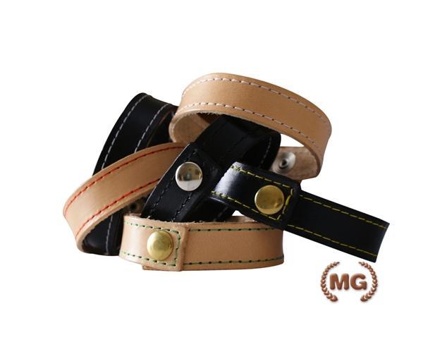 braccialetti in cuoio semplice vari colori con e senza cucitura