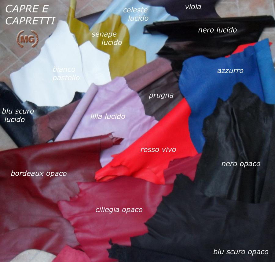 Cartella colori Capre e capretti colorati in botte