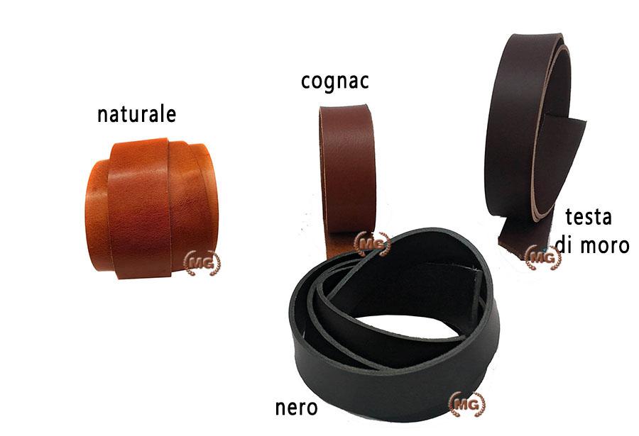 vari stili comprare reale design distintivo Strisce in cuoio per cinture