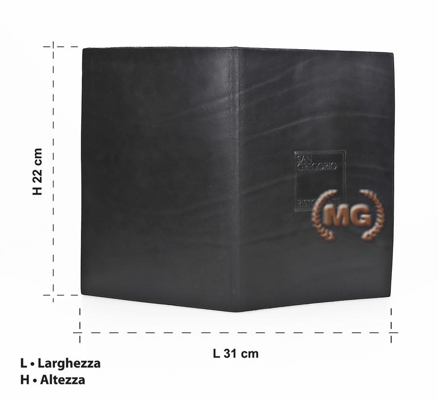 Cartella misure coprimenu in cuoio personalizzabile