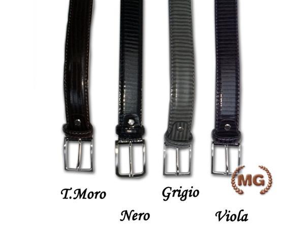 Cintura in pelle stampata vipera