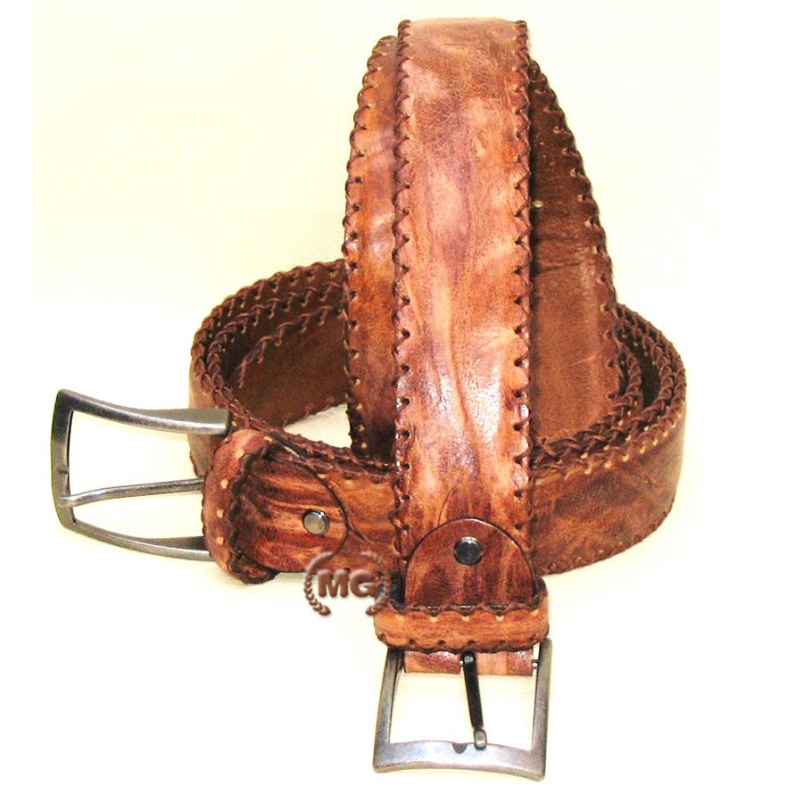 Cintura in pelle vintage lavorata a mano