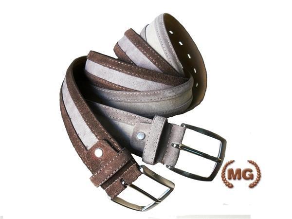 Cintura scamosciata effetto contrasto bicromatico