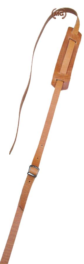 Tracolla chitarra in cuoio con spallaccio fatta a mano