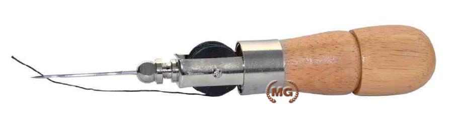 Cucitomaia ad ago con filo professionale in legno ed acciaio