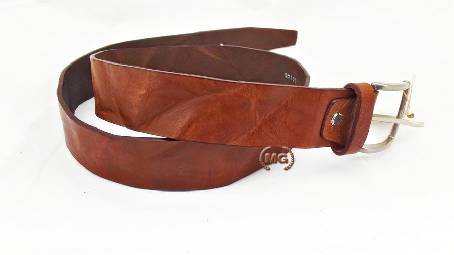 bfb65cd52e cintura in cuoio effetto stropicciato, vintage, vissuto, alternativo