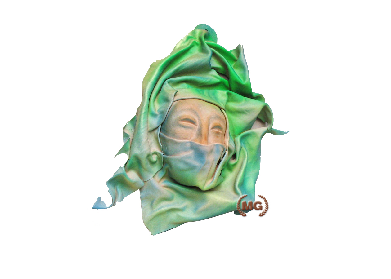 Maschera veneziana con velo