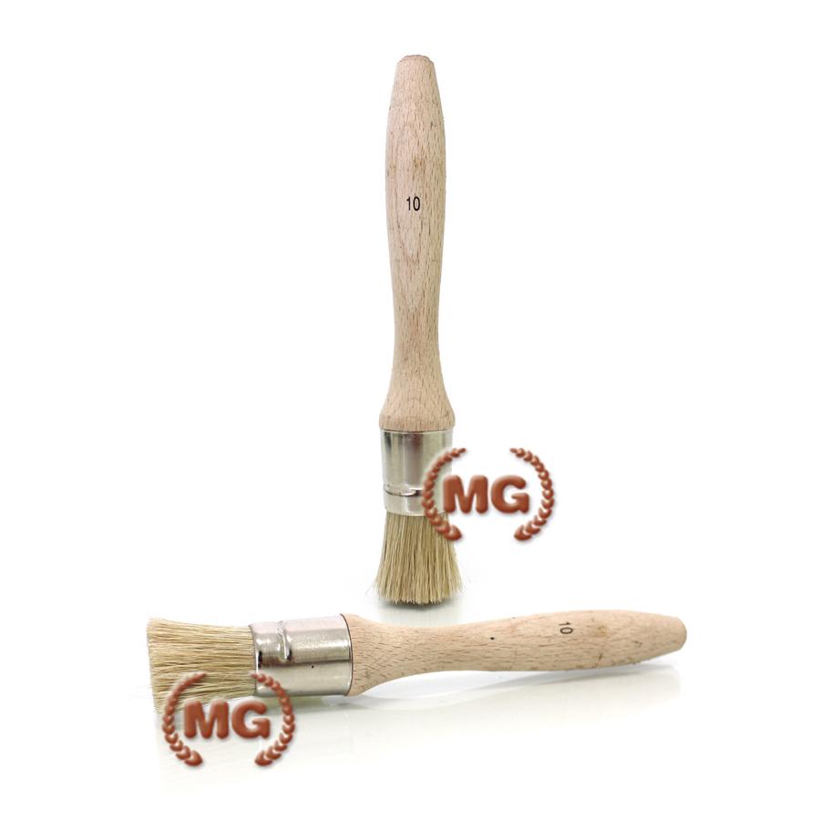 Pennelli calzolaio a manico corto in legno e metallo