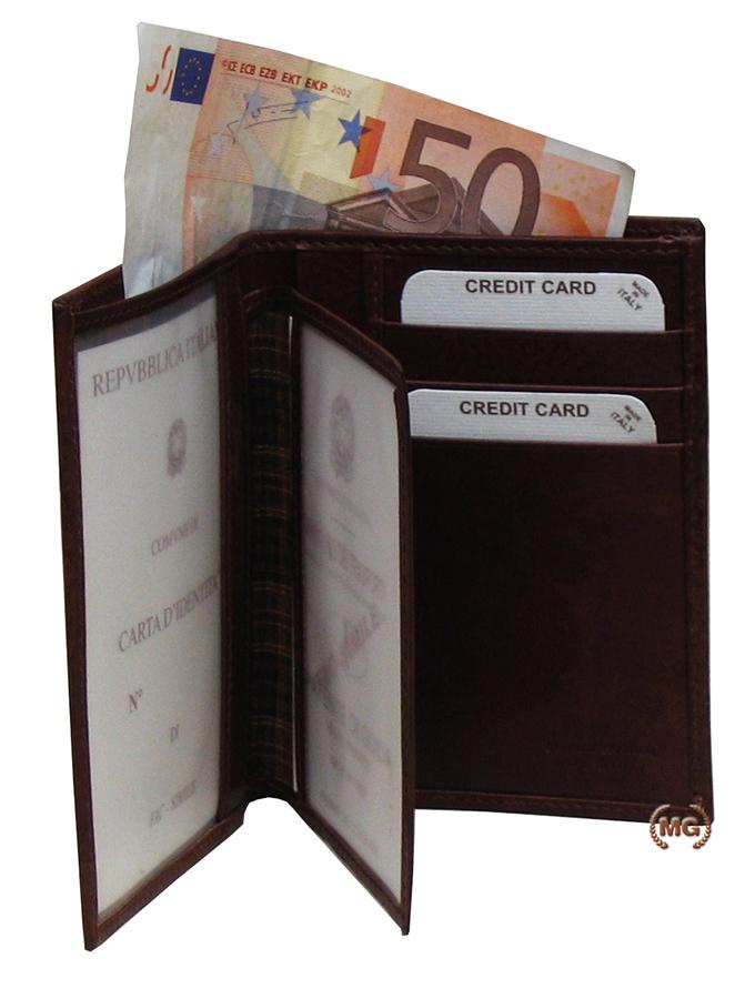 Portafogli verticale con porta documenti
