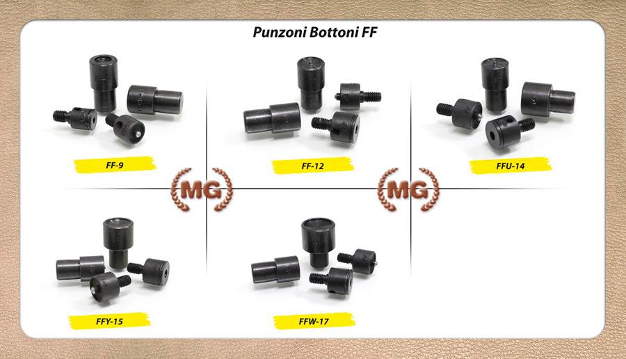 Punzoni di ricambio per bottoni automatici CC, FF, alfa 2