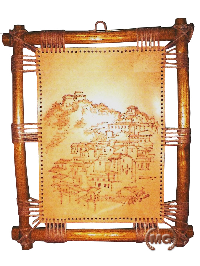 Quadro con cornice in legno