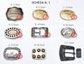 Fibbie in varie forme per cinture in cuoio sportive