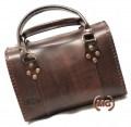 borsa bauletto realizzata a mano in cuoio con cerniera interno foderato con accessori oro vecchio - personalizzata- personalizzata