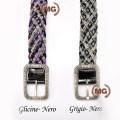 Cintura in pelle intrecciata da donna ispirata ai kilt scozzesi
