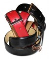 Classic leather belt H 3 cm