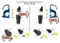 Bottoni a pressione in ottone ff
