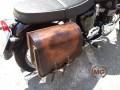 Mono borsa in cuoio per moto