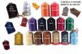 Filo poliestere disponibili in vari colori, cartella colori disponibili bobine da 400 mt