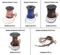 Laccetti a sezione tonda in cuoio da 2mm per collane o ciondoli