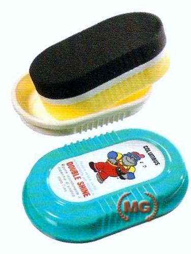 Spazzola double shine autolucidante per scarpe in pelle liscia